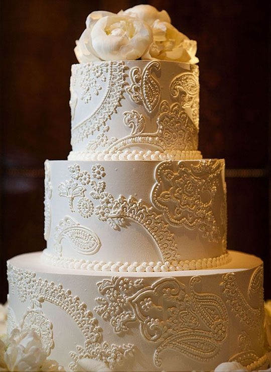 12 Cake Boss Wedding Cakes With Vintage Lace And Pearls Photo