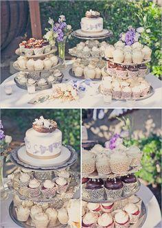 7 Table Settings On Wedding Cupcakes Photo Wedding Cupcake Table