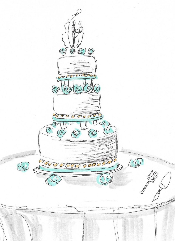 6 extreme wedding cakes sketches photo wedding cake
