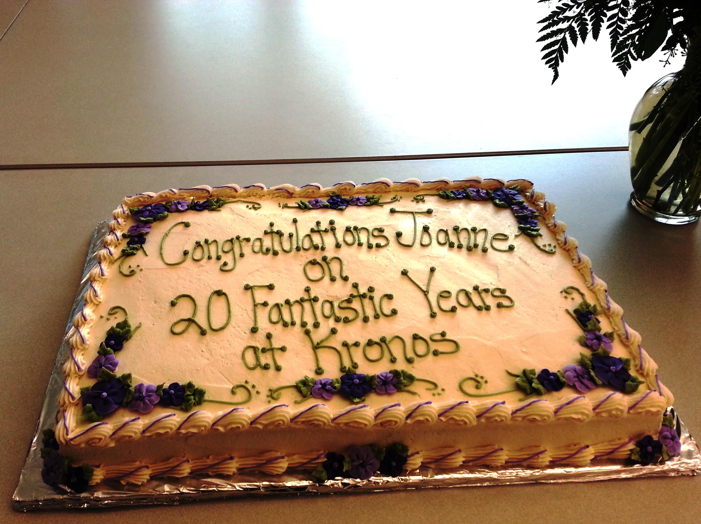 Employee anniversary year congratulations card