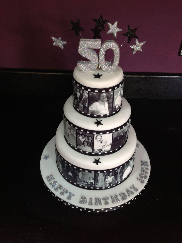 Excellent 8 Movie Reel Cake Birthday Cakes Photo 50Th Birthday Cake Movie Personalised Birthday Cards Veneteletsinfo