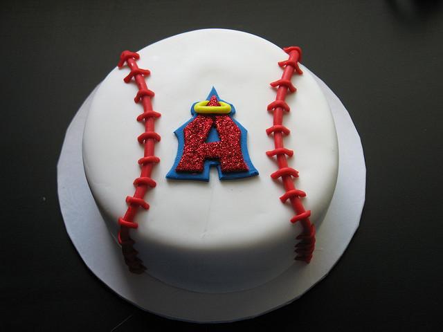 Brilliant 8 Angels Baseball Cake Cupcakes Photo Angels Baseball Cake Birthday Cards Printable Nowaargucafe Filternl