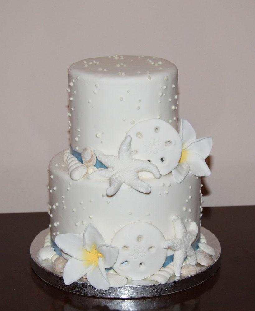11 With Sand And Starfish Beach Wedding Cakes Photo - Starfish ...