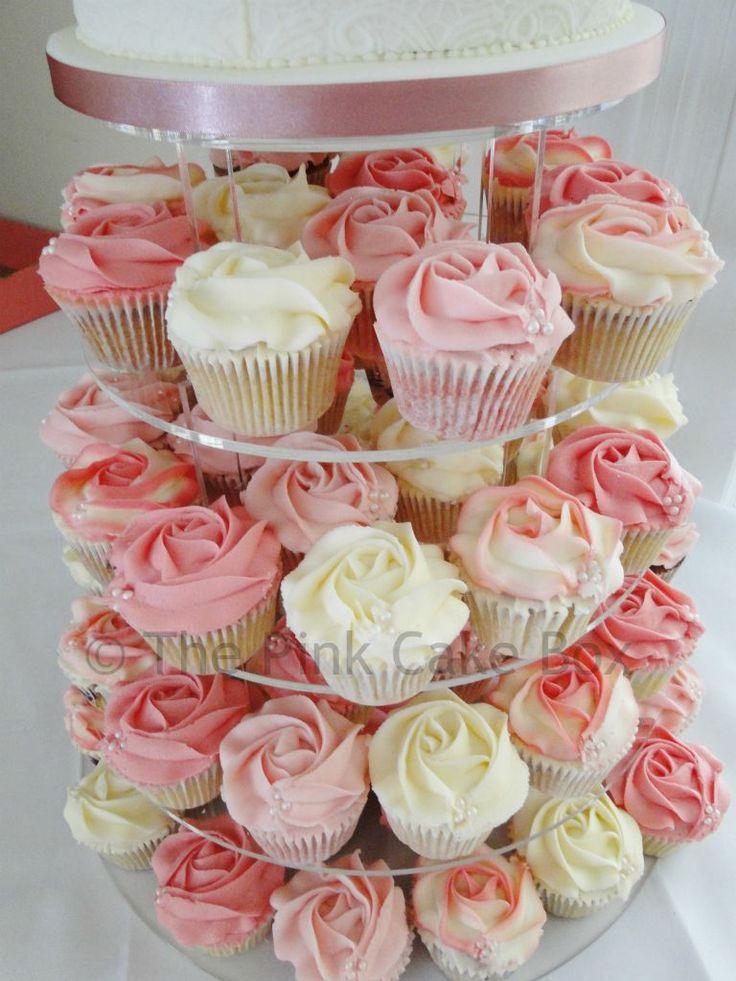 13 Bridal Cupcakes Pink Photo - Pink Flower Wedding Cupcakes, Pink ...