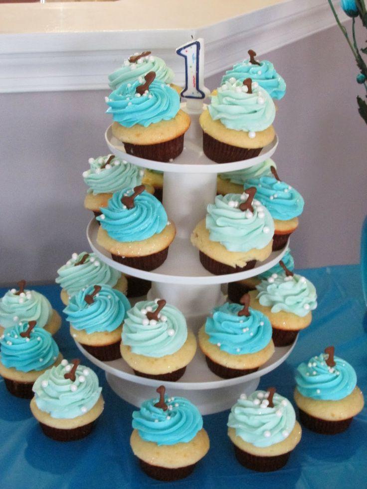 13 Cupcake Cakes For Boys First Birthdays Photo Boy 1st Birthday