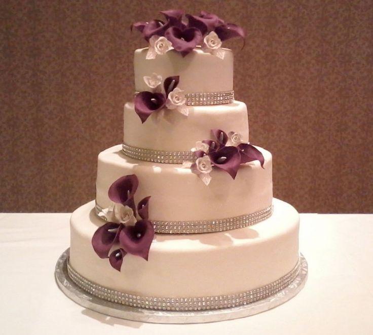 Calla Lily Wedding Cake Design