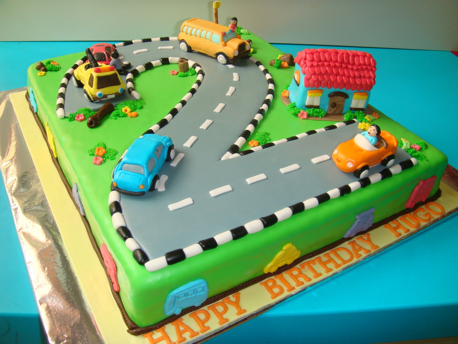 Cars 2 Year Old Birthday Cake