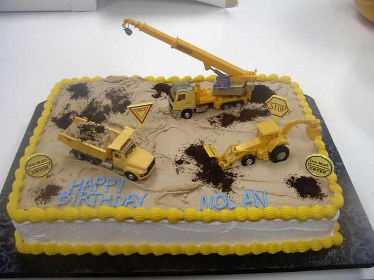 9 Pinterest Construction Cakes Photo Construction Birthday Cake