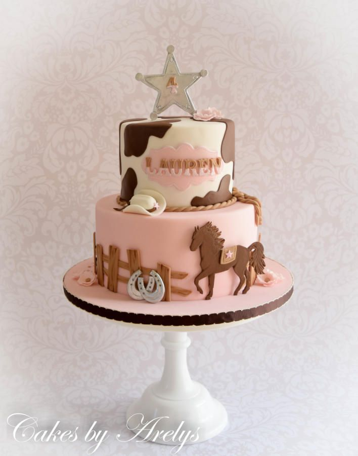 13 Western Cakes For Little Girls Pink And White Photo Pink Baby