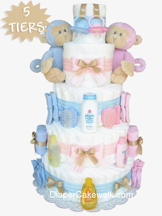 12 Idea For Twin Baby Boy Diaper Cakes Photo Twin Boys Baby Shower
