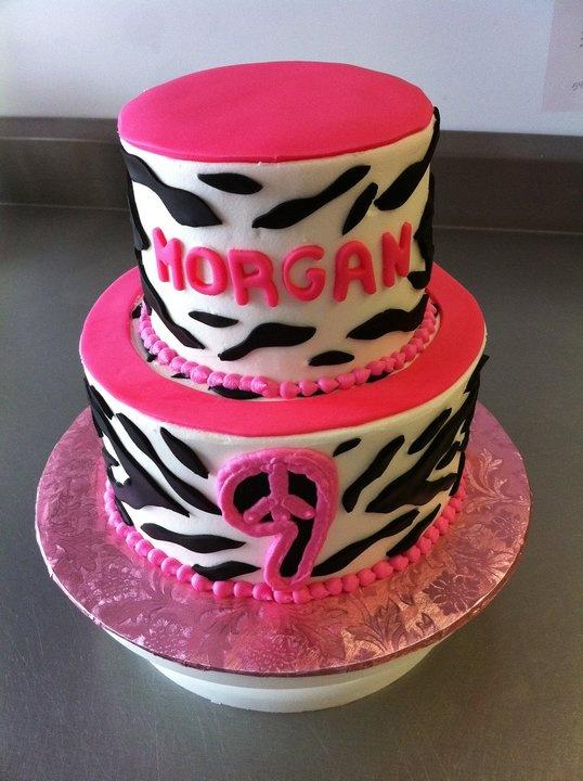 7 Girl Birthday Cakes Zebra Print Photo Girls Birthday Cake Zebra