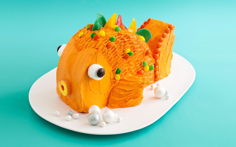 8 Easy Fish Birthday Cakes Photo Easy Fish Birthday Cake Fishing