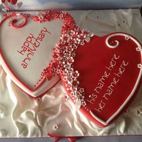 8 Photos of Happy Anniversary Heart Cakes
