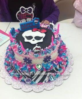7 Photos of Homemade Monster High Cakes
