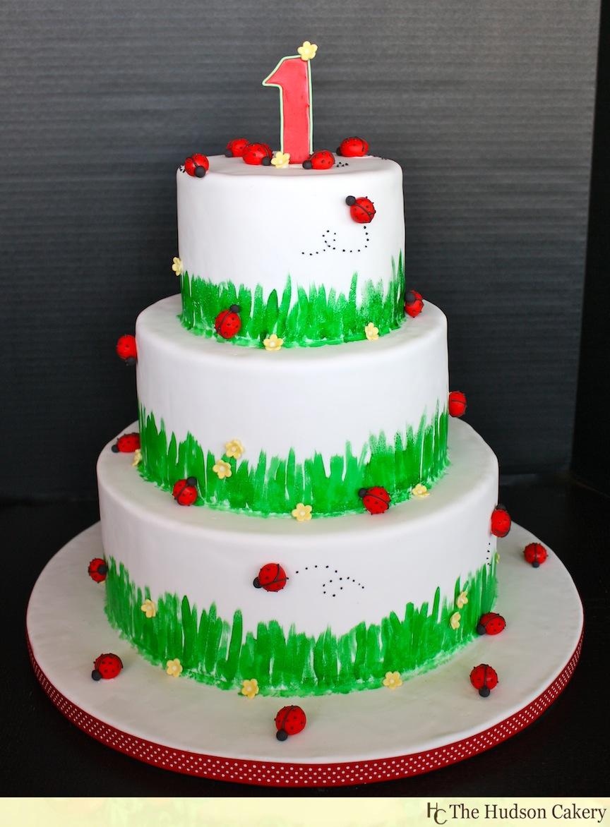 9 Girls Ladybug Birthday Cupcakes Photo Ladybug First Birthday