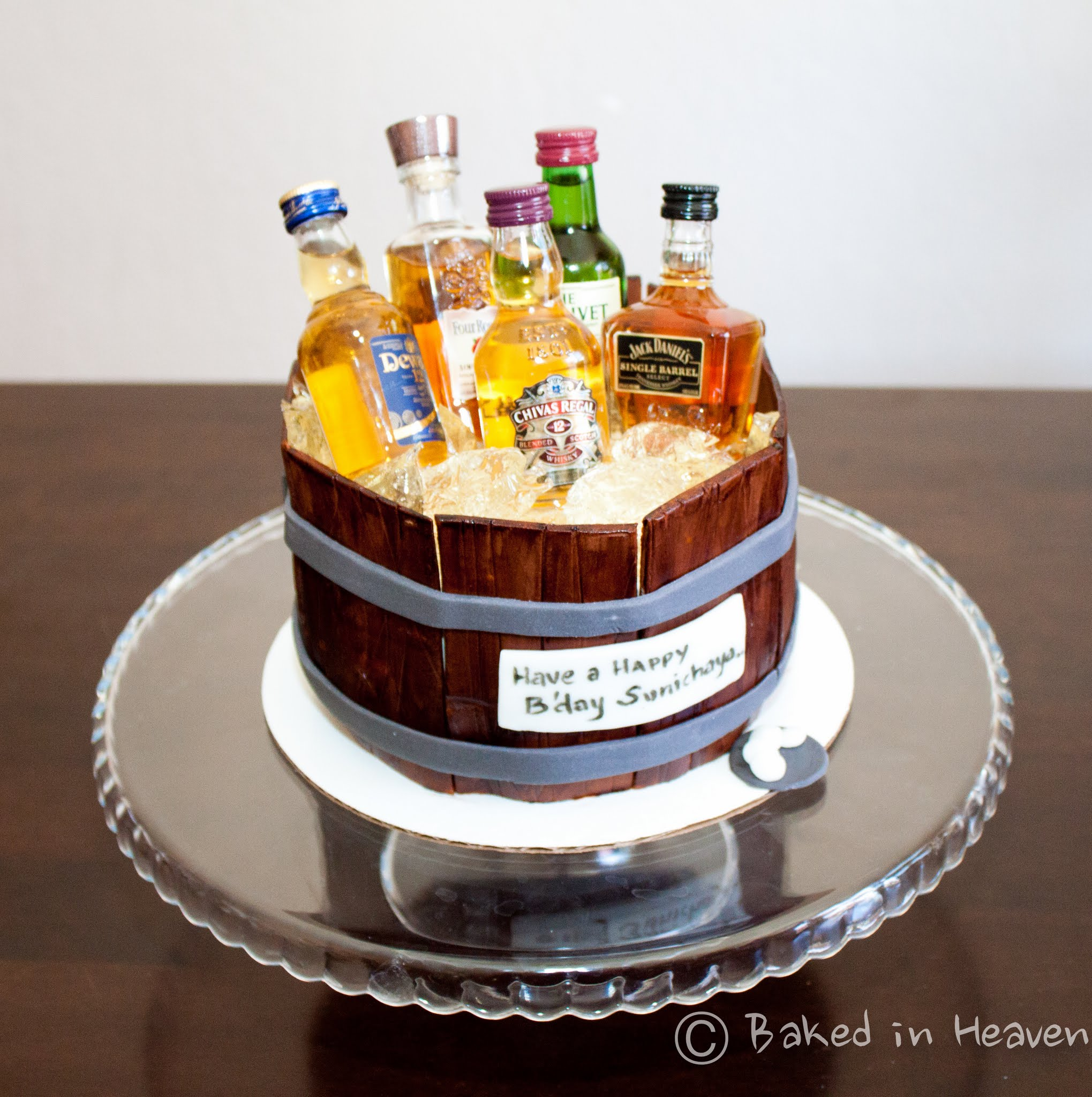 Alcohol Decorated Cakes