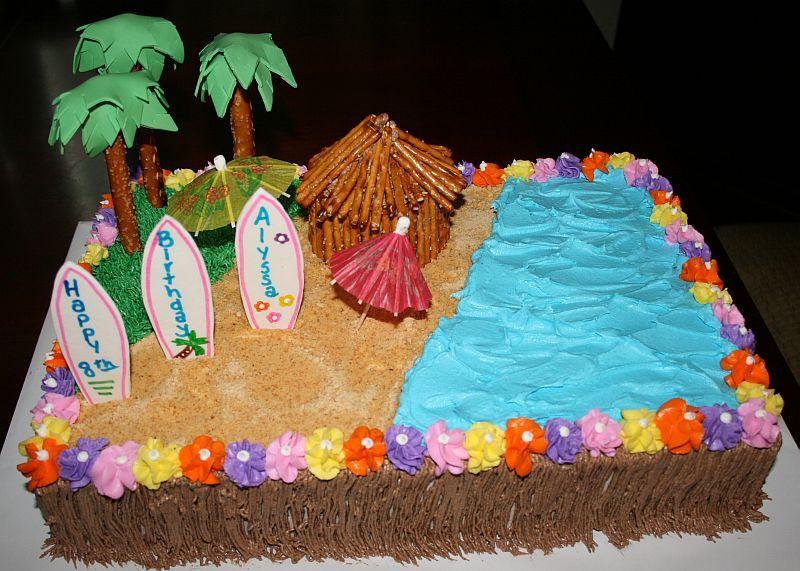 Luau Beach Birthday Cake: Hawaiian Birthday Sheet Cakes At Alzheimers-prions.com