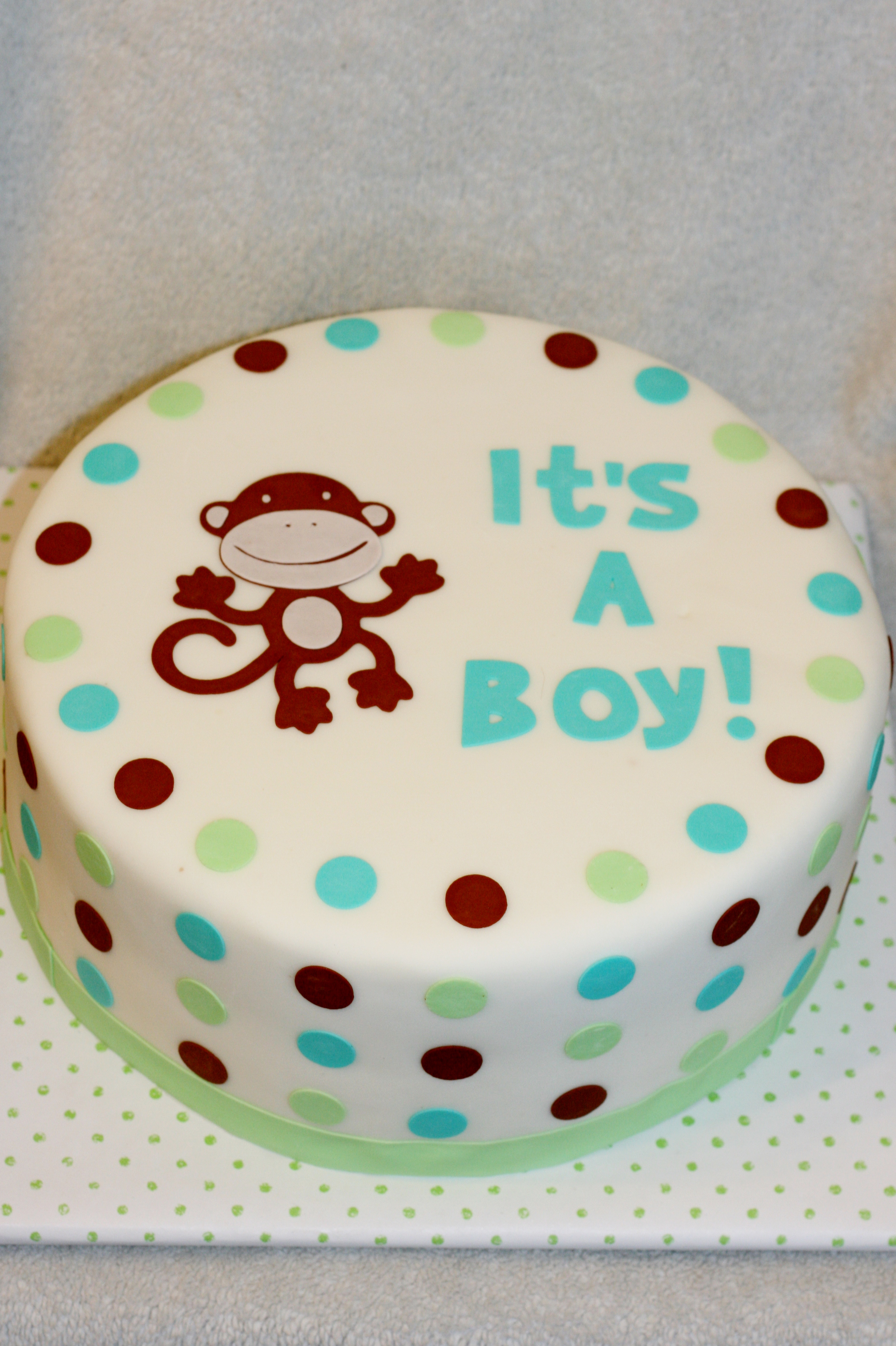 8 cute pics of monkey cakes for baby showers photo - monkey baby