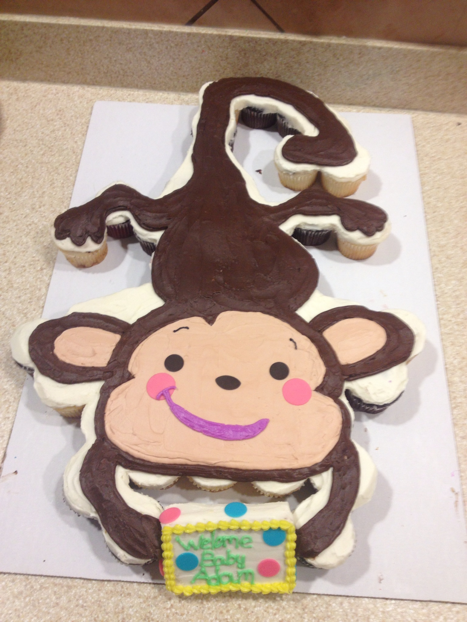 8 Birthday Cake Design Monkey Cupcakes Photo Sock Monkey Cupcakes