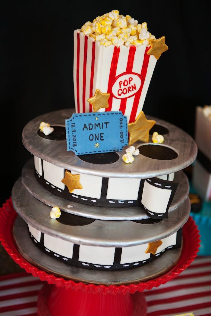 Strange 12 Movie Party Birthday Cakes Photo Movie Themed Birthday Cake Funny Birthday Cards Online Alyptdamsfinfo