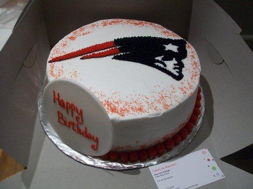 Surprising 10 New England Patriots Happy Birthday 34Th Birthday Cakes Photo Funny Birthday Cards Online Elaedamsfinfo
