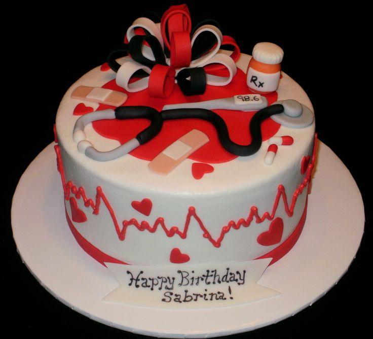 13 Medical Themed Cakes Buttercream Photo Nurse Graduation Cake
