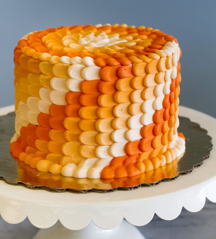 Terrific 7 Birthday Cakes Buttercream With Orange And Blue Photo Orange Funny Birthday Cards Online Hetedamsfinfo