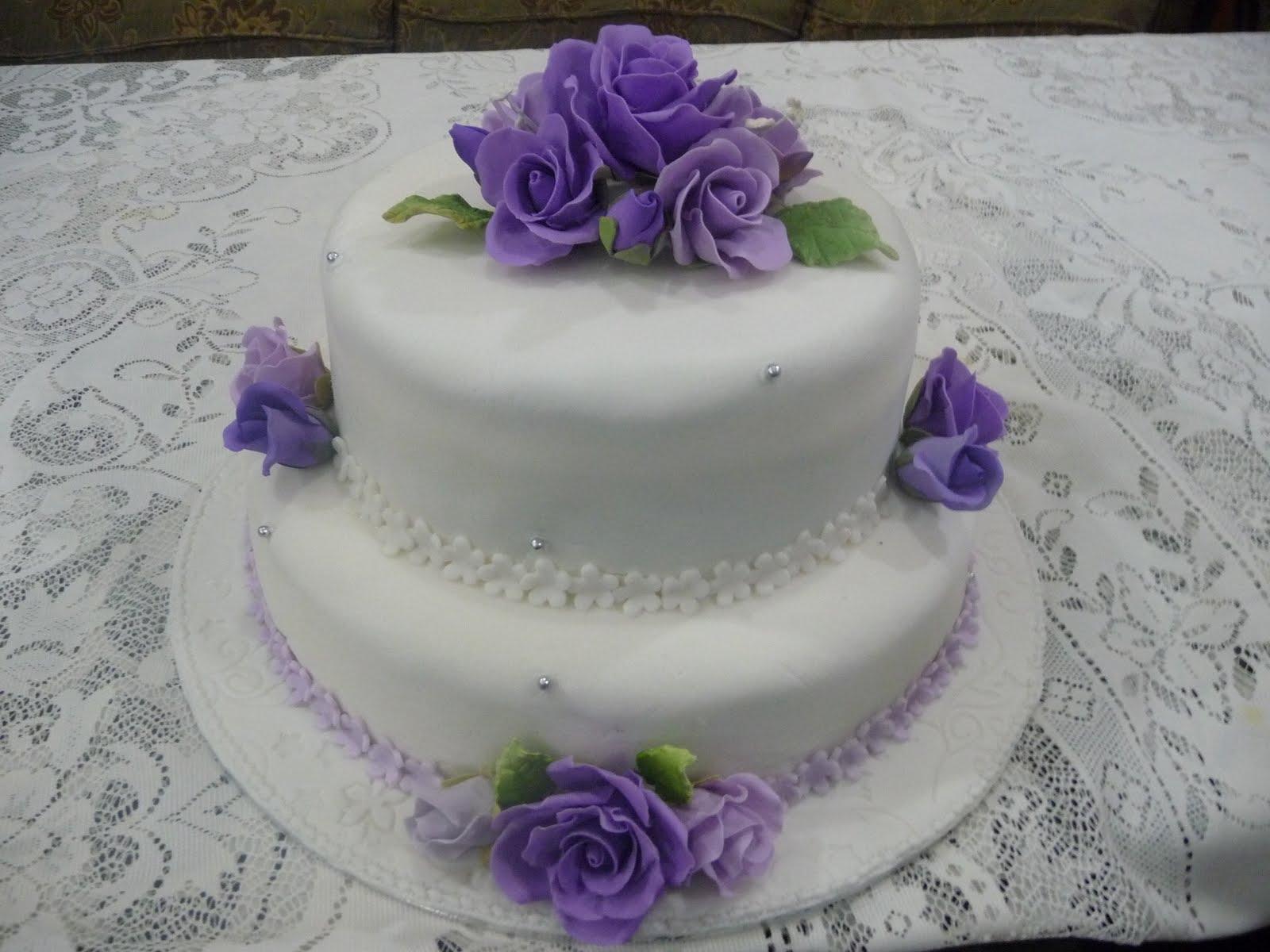 9 Photos of Fondant Wedding Cakes Two Tiers