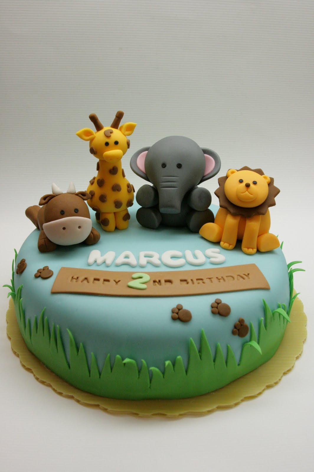 7 Baby Safari Animal Birthday Cakes Photo Zoo Animals Birthday