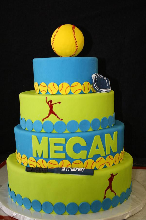 12 College Softball Cakes Photo Softball Pitcher Cake Softball