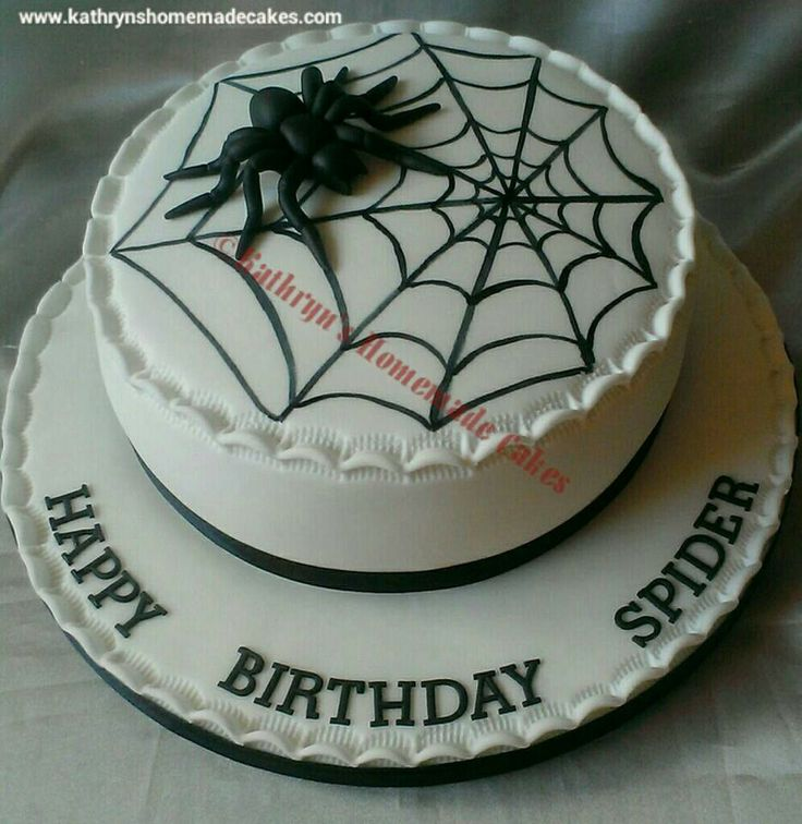 Astounding 12 Homemade Spider Birthday Cakes Photo Halloween Spider Funny Birthday Cards Online Inifofree Goldxyz