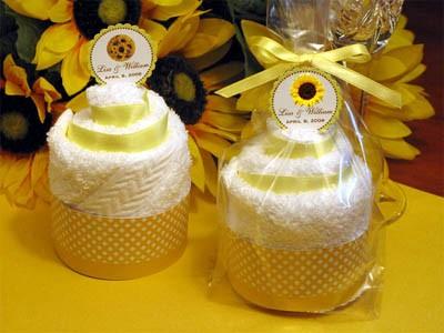 sunflower wedding shower favors