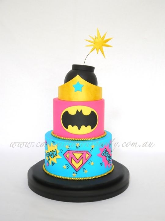 13 Superhero Cakes For Girls 15th Birthday Photo Superhero