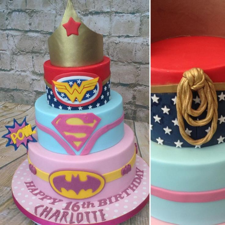 13 Superhero Cakes For Girls 15th Birthday Photo Superhero