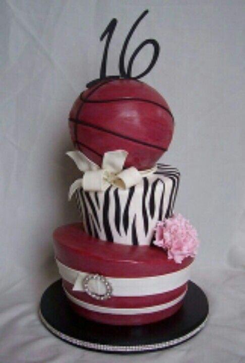 Sweet 16 Basketball Cake Ideas For Girls