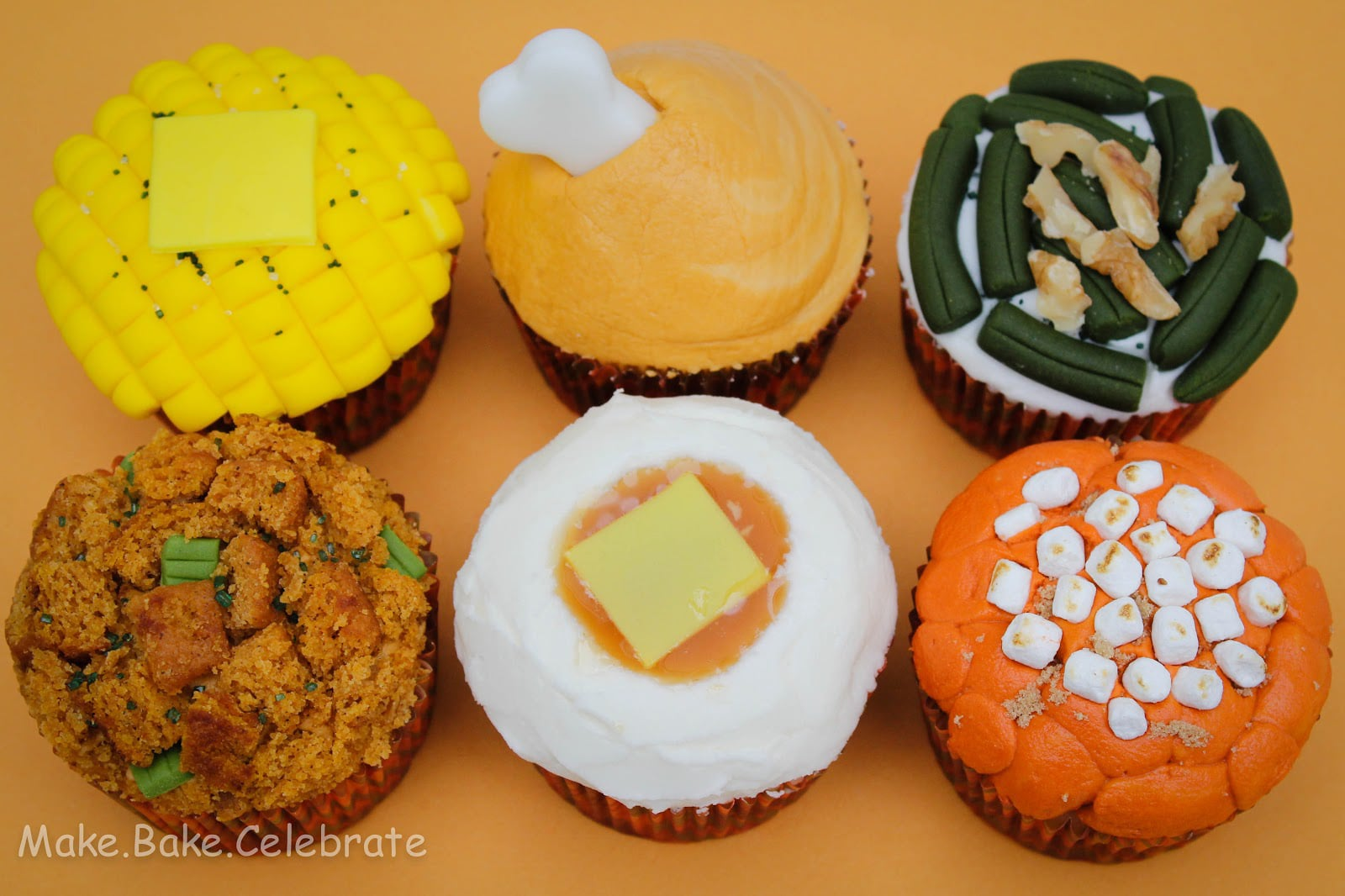 11 Photos of Decorations For Thanksgiving Meal Cupcakes