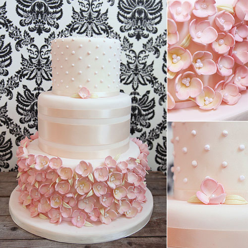 9 Cakes Covered In Sugar Flowers Photo Wedding Cake With Ribbon