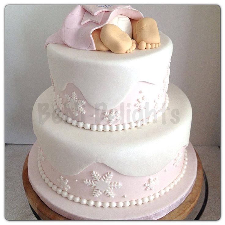 10 Winter Girl Baby Shower Cakes Photo Winter Wonderland Theme