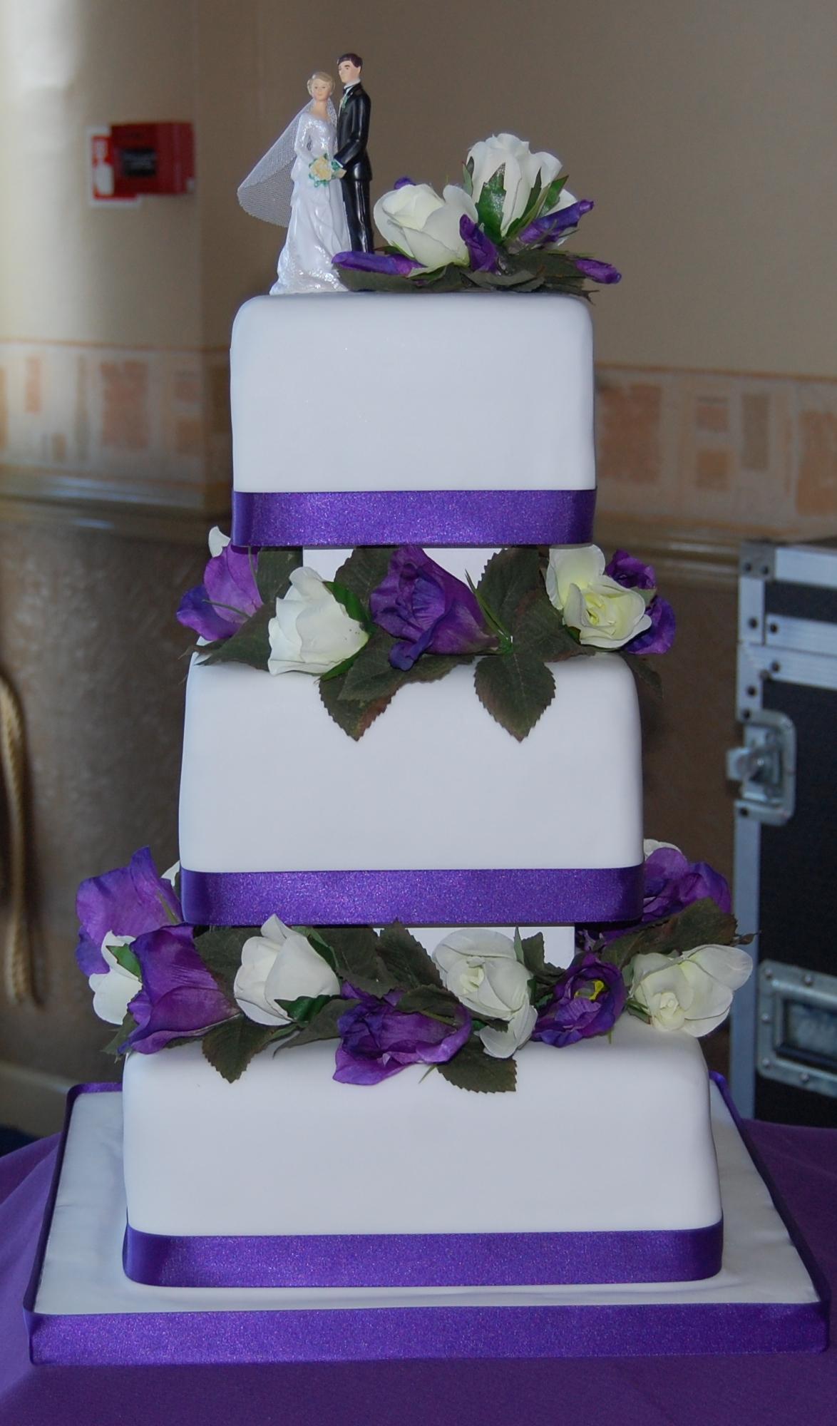 3 Tier Purple Wedding Cakes