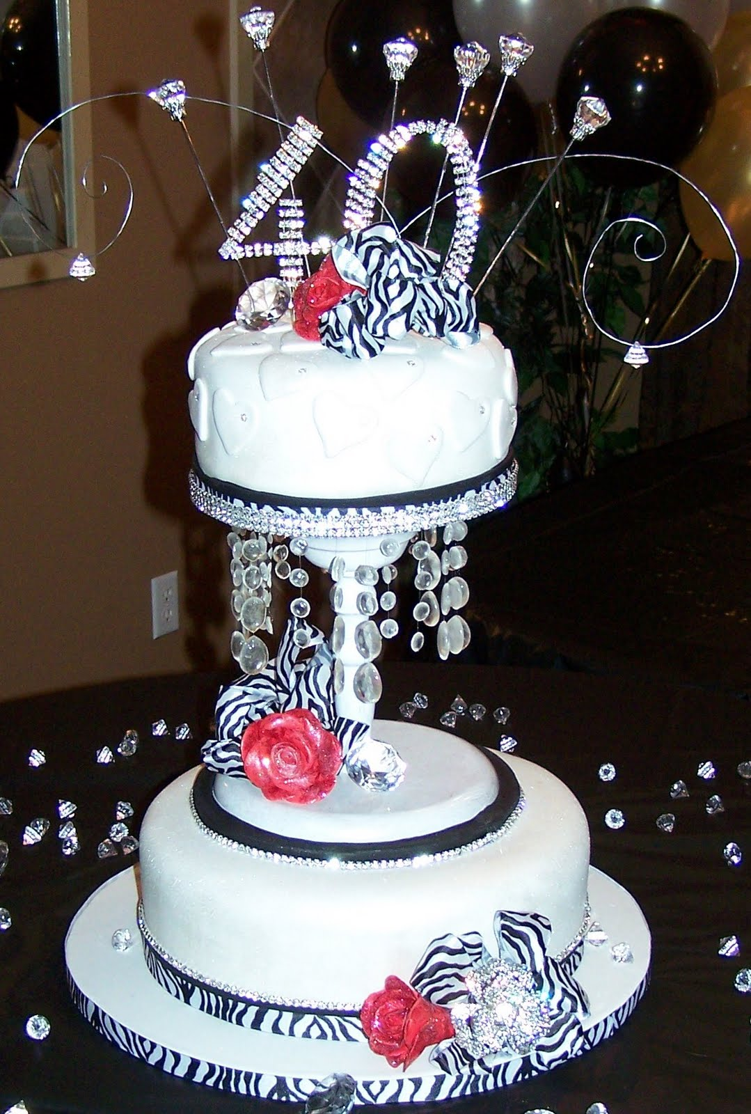 40th Bling Birthday Cake Ideas