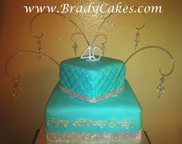 9 Bling 40th Birthday Cakes Photo 40th Bling Birthday Cake 40th