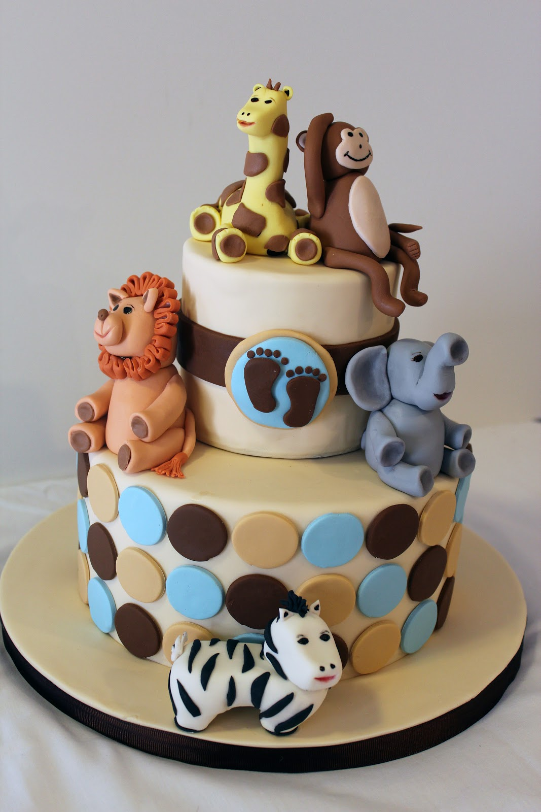 12 Photos of Zoo Theme For Girl Baby Shower Cakes