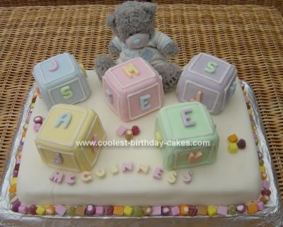 7 Photos of Blocks Baby Shower Sheet Cakes