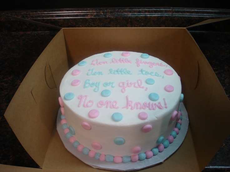 Baby Gender Reveal Cake Idea