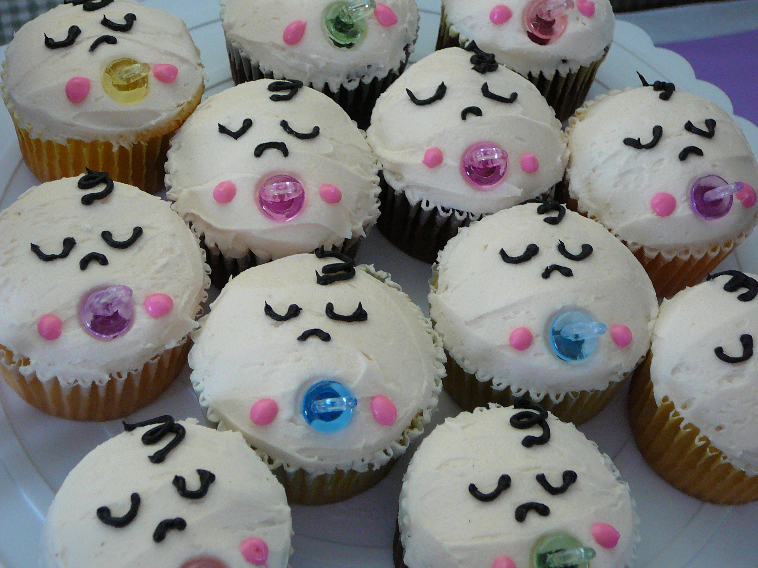 10 Photos of Easy Baby Shower Cupcake Cakes