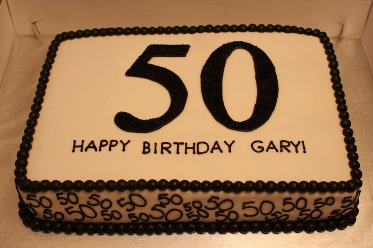 Black 50th Birthday Sheet Cakes
