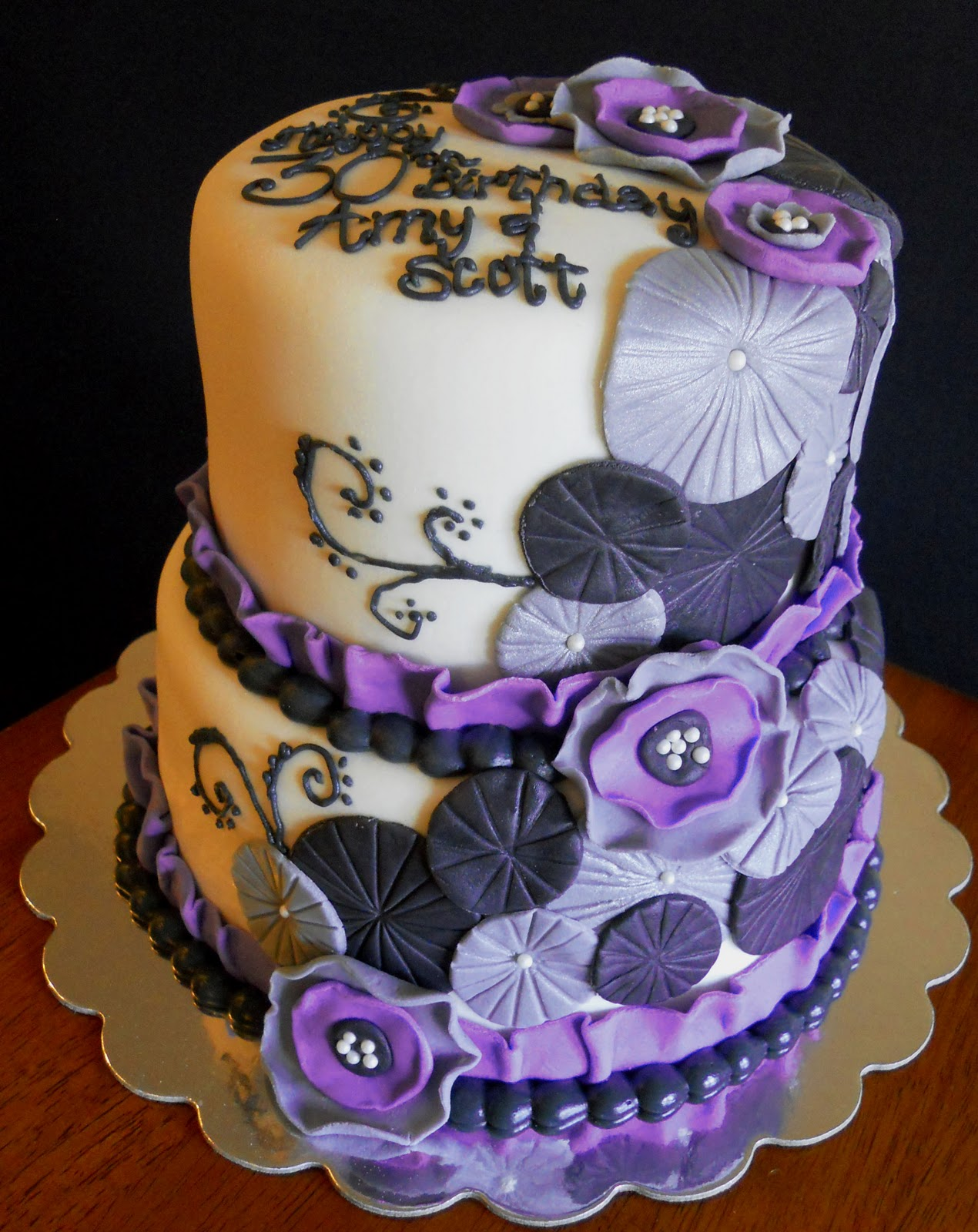 11 Photos of Lavender And Silver Birthday Cakes