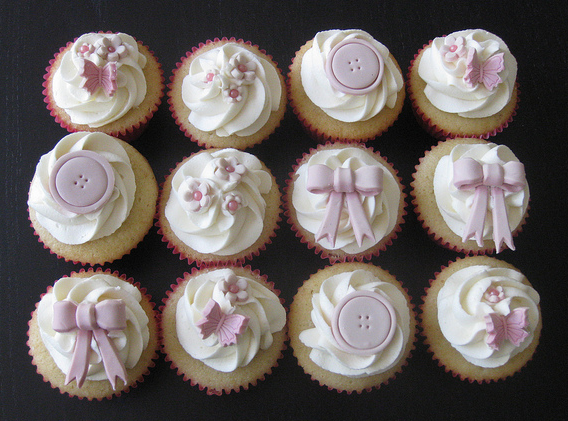 11 Baby Shower Cupcakes With Bow Photo Baby Shower Cupcake Bow