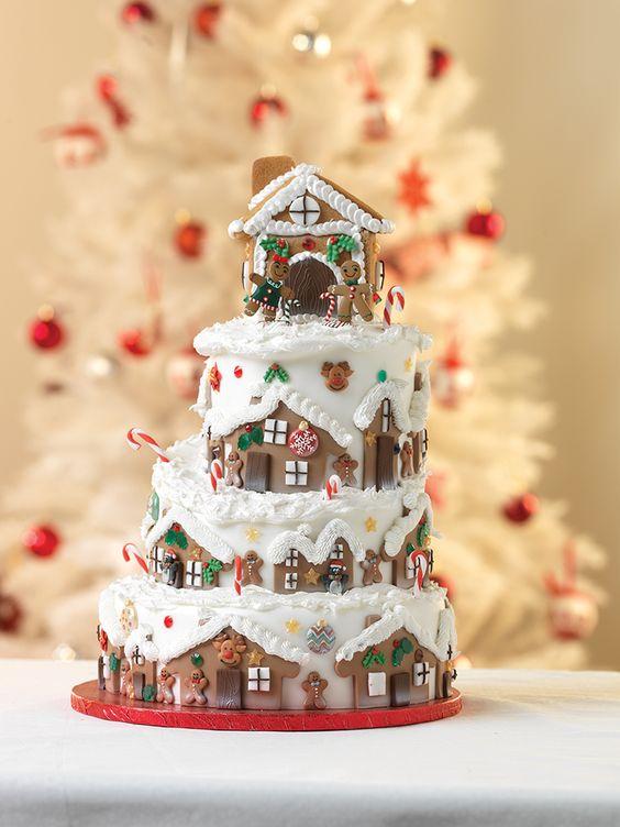 13 2 Tier Wedding Cakes For Christmas Photo - 2 Tier Christmas Cake ...