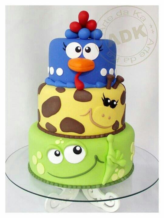 Cute Animal Birthday Cake